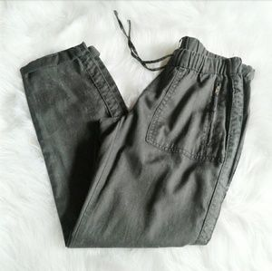 Jessica Simpson Cropped Gray Cotton Pants